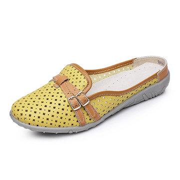 Femmes Pantoufle Sandales Chaussures Confortable Chaussures Plates Souples Casuelles Creuses de la Plage