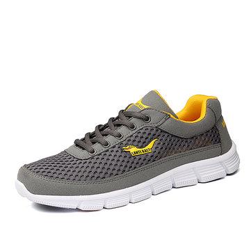 Chaussures de sport en plein air mesh respirant décontractée et confortable à lacets des chaussures de sport