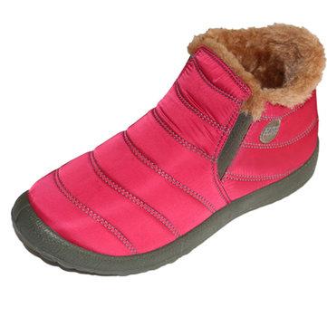 Nous taille 5-13 doublure en fausse fourrure slip élastique sur les bottes de neige ronde orteil cheville