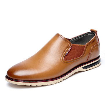 Men& Leather& Shoes& Business& Outdoor& Slip On Oxfords
