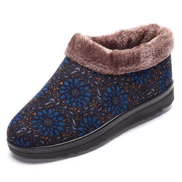 Fleur doublure faux fourrure doublure sur les bottes de neige occasionnels neige