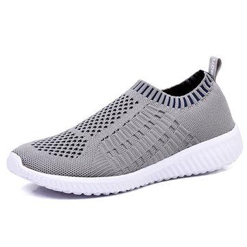 Chaussures en Mailles Plates Souples Sportives Casual Pour Femmes