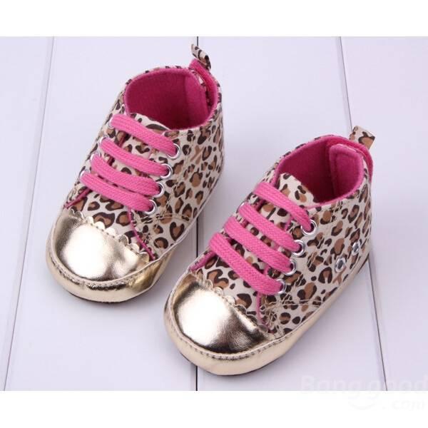 Bébé fille motif léopard décorée chaussures princesse bambin