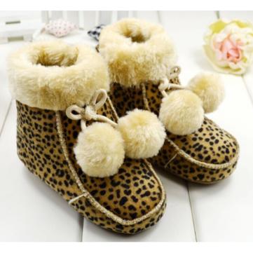 Filles de bébé au chaud cutton doublée suède fluage bottes chaussures à semelle souple