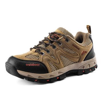 Unisexe dentelle extérieure jusqu'à chaussures de sport chaussures de randonnée respirante alpinisme chaussures