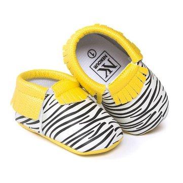 0-12 mois bébé bébé bébé cuir pompon chaussures crèche mocassin mocassins léopard douce