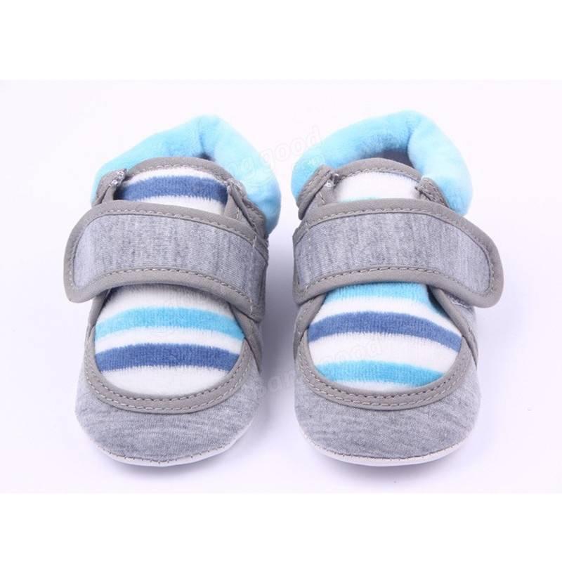 Bambin bébé chaussures crèche garcon infantile hiver fille chaussures à semelle souple prewalker 0-18m