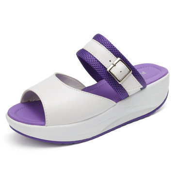 Femmes Rocker Sole Chaussures Sandales plates Casual Chaussons