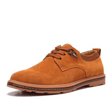 Grande mode des hommes de taille richelieus plates bout rond chaussures en cuir décontractée