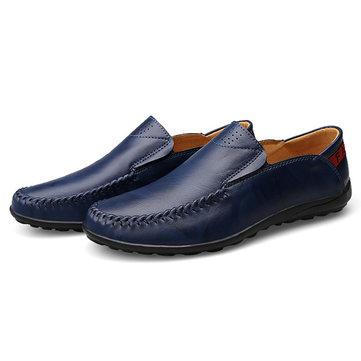 Taille& des& états-Unis& 6.5-11.5& Men& Leather& Slip& On& Casual Flat Oxfords