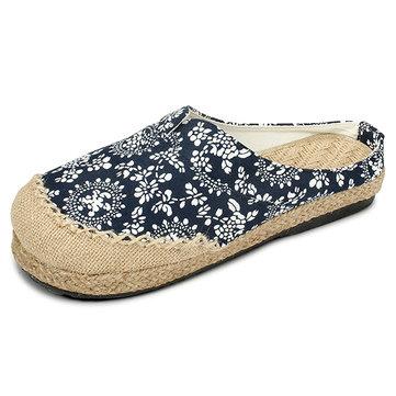Femmes Chaussures Coton Décontracté Loafer Extérieur Orteuil Rond Comfortable