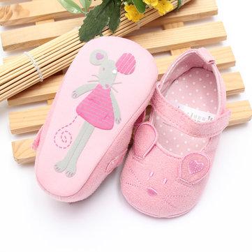 Bébé mignon souris doux souple berce chaussures tout-petit premières chaussures de marche