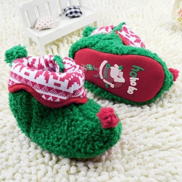 & noel chaud bébé bambin chaussures en tissu de coton nouveau-né