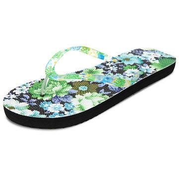 Taille us 5-10 femmes plage d'été doux appartements de fleurs confortables sandales mode pantoufles chaussures