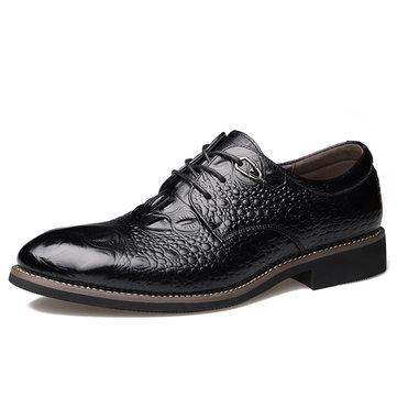 Hommes Chaussures d'affaires Décontractées à Lacet en Cuir