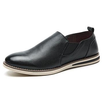Chaussures& Oxfords& pour& hommes& en& cuir véritable