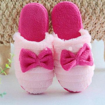 Nouvel amant d'hiver intérieur maison garder chaussures pantoufle de glissement sur la mode chaud de coton en peluche