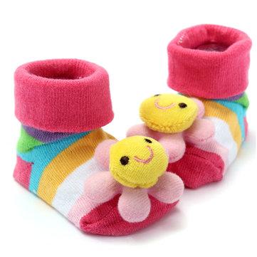 Bébé enfants bébé garcons filles coton adorables chaussettes de bas 0-1 an