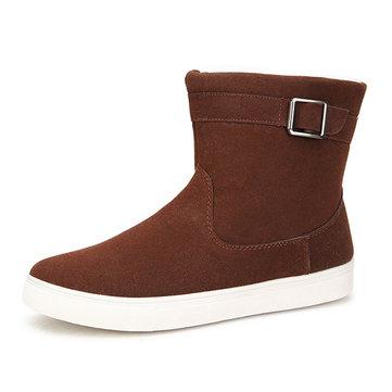Dames d'hiver garder au chaud bottes de neige coton plat bottes bas bottines courte neige