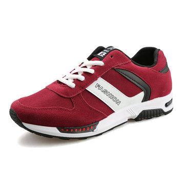 Les hommes du sport casual courir confortable lacent appartements mode daim chaussures de sport en plein air
