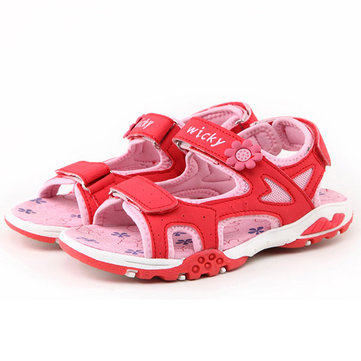 Enfants de deux-strap sandales garcons filles été casual chaussures de plage enfants bout ouvert à plat