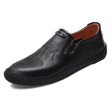 Casual Slip On Hommes Chaussures Oxfords En Cuir