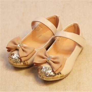 Bambin bébé PU cuir enfants Mary Jane flats danseur du parti art casual chaussures de princesse bowknot robe volantée