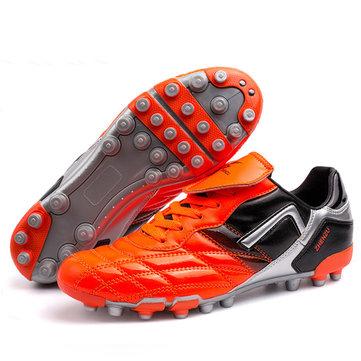 Chaussures crampons d'absorption de football de football de choc de lumière respirants