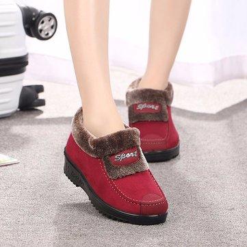 Nous taille 5-10 hiver femmes neige bottes fourrure doublure coton garder chaud plat chaussures