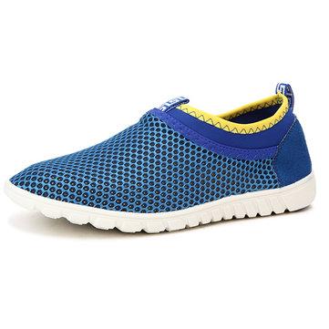Nous taille 6.5-10.5 hommes chaussures de sport casual flats mesh respirant confortable évider chaussures de sport