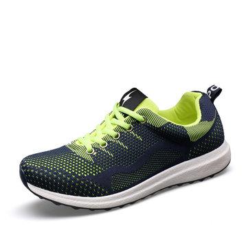 Hommes nouveaux maillage sportif occasionnel courir dentelle plate respirant des chaussures de sport de plein air