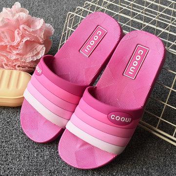 Slip coloré unisexe sur occasionnels pantoufles à domicile intérieur
