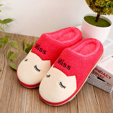 Home Shoes Keep Warm Cartoon Slip-On Slipper Shoes