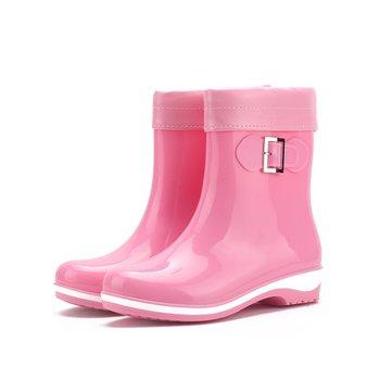 Coloré garder slip chaud sur la cheville courte bottes de pluie