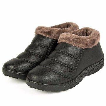 Bottes de neige femmes hiver fourrure doublure coton garder chaude casual appartements