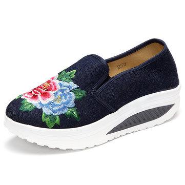 Chaussures de basket-ball de toile de femmes seul chaussures de sport décontractées de fleur