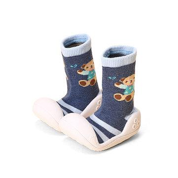 Bébé unisexe bande dessinée souple caoutchouc sole chaussettes chaussures chaussures prewalker