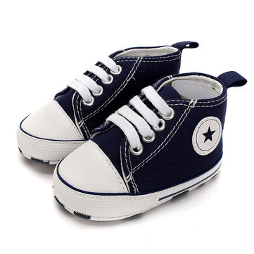 Bébé chaussures de toile enfants baskets douces garcons filles bambin infantile mocassins