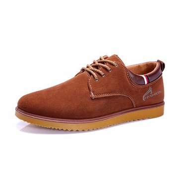 Les hommes en daim dentelle chaussures up orteil occasionnels richelieus de mode en plein air rondes