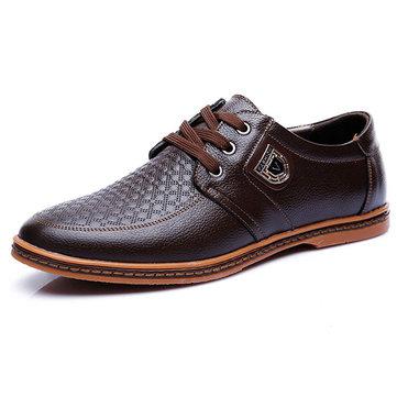 Grands hommes de taille chaussures de sport en caoutchouc respirante confortable à lacets chaussures PU