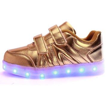 Enfants LED chaussures légères espadrilles chaussures en cuir garcon casual girl enfants nouvelles