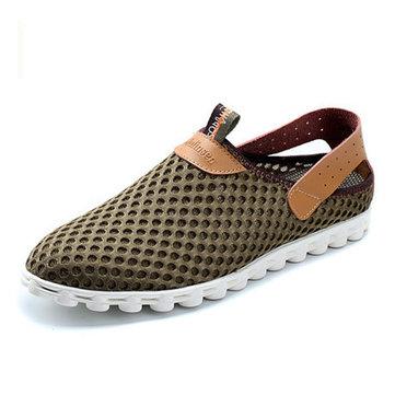 US Taille 6.5-11 chaussures de sport respirant Mesh Slip On chaussures de sport de sport en plein air