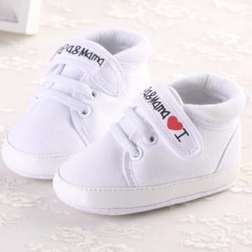 Tout-petit bébé occasionnel crèche prewalker i love mama chaussures de papa