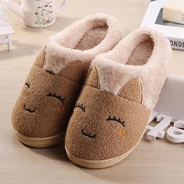 Hiver nouvel amant de lapin de dessin animé coton peluche garder la maison chaude intérieure chausson confortable