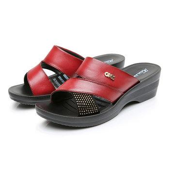 Taille nous 5-10 femmes été sandales compensées de plein air douce chaussures pantoufle en cuir confortable
