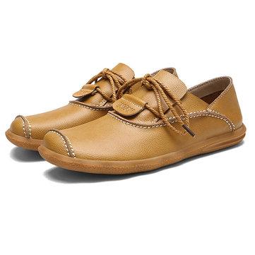 Chaussures Hommes Casual Low Top Oxfords En Cuir