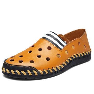 Chaussures& creuses& décontractées& pour& hommes& Chaussures respirantes Chaussures corticales douces