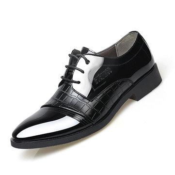 Hommes lacent cuir artificiel chaussures formelles souples uniques chaussures d'affaires