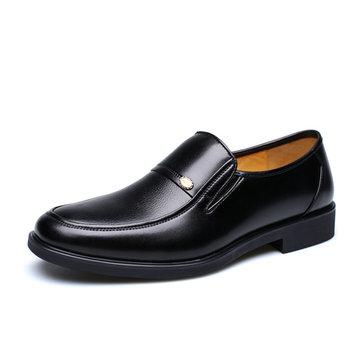 Chaussures à Lacet d'Affaires Formelles Chaussures de Fête en Cuir Flexible