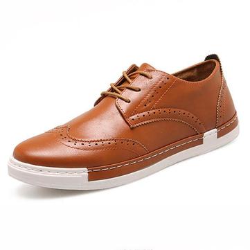 Hommes brogue creux bas-haut plat dentelle jusqu'à chaussures oxford